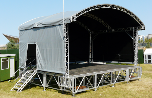 Outdoor Festival Stage Hire Prolyte Arcroof Stage System